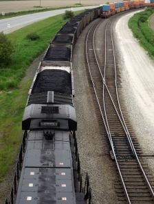 US Thermal Coal passing through Delta for export to foreign markets.